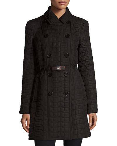 bow quilt coat