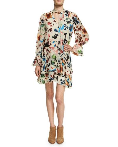 Moore V-Neck Layered Tunic Dress