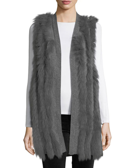 Neiman Marcus Cashmere Collection Luxury Cashmere Vest w/