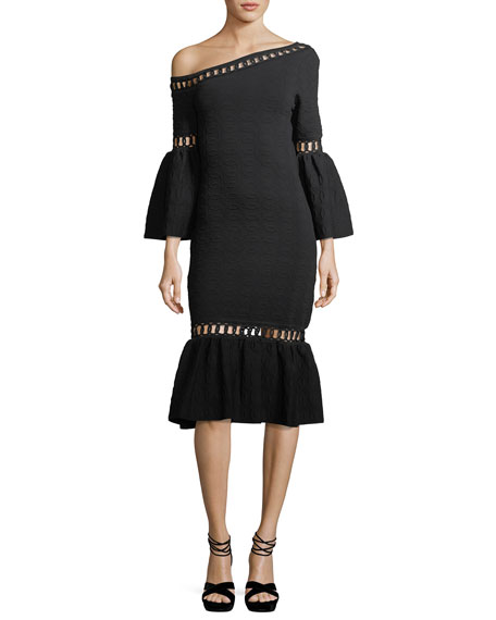 Jonathan Simkhai Chain-Link Knit Fit And Flare Midi
