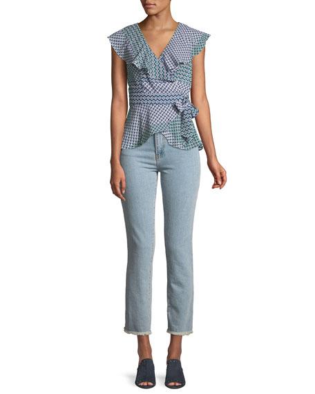 Evansville High-Waist Cropped Straight-Leg Jeans