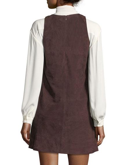 Fafhia C Sleeveless Suede Mini Dress