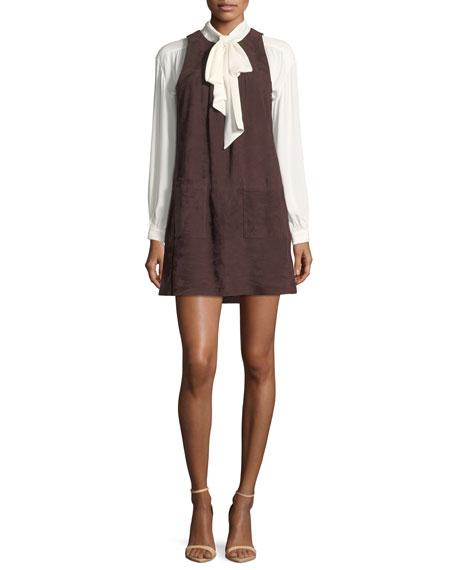 Joie Fafhia C Sleeveless Suede Mini Dress