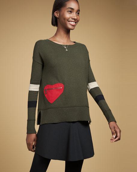 Lisa Todd Heartthrob Cotton-Cashmere Sweater