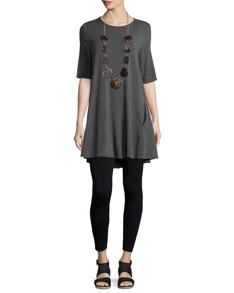 Half-Sleeve Jersey Tunic, Plus Size
