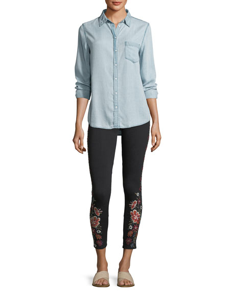 Waleska Embroidered Leggings, Plus Size