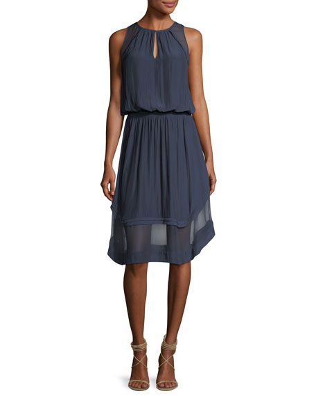 Ramy Brook Quinn High-Neck Sleeveless Dress