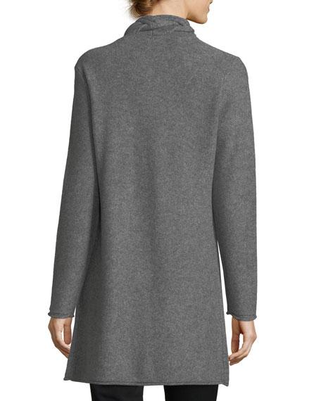 Reverse-Braid Cashmere Cardigan