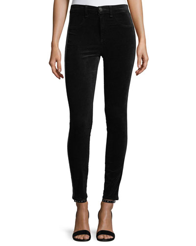 Mito Skinny-Leg Velvet Pants