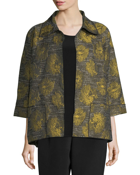 Caroline Rose Floral Interest Jacquard Jacket