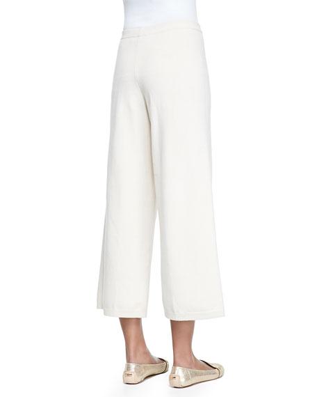 Silk-Cashmere Wide-Leg Pants