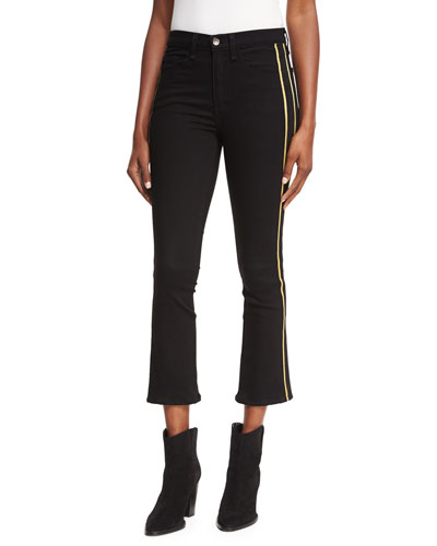 Carolyn Baby-Boot Tux Stripes Cropped Jeans