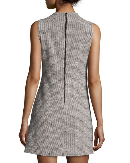 Coley Mock-Neck Straight A-line Mini Dress