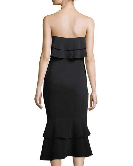 Ezana Strapless Trumpet Cocktail Dress