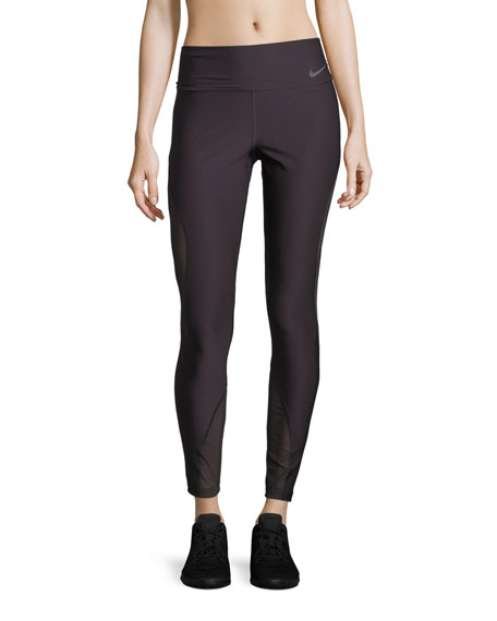 Nike Power Full-Length Performance Tights w/ Mesh