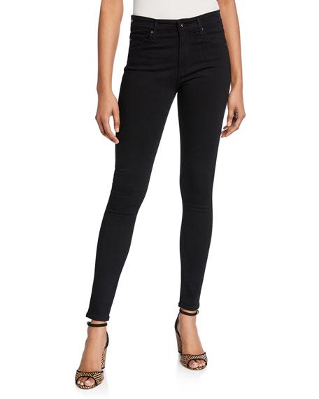 AG Farrah High-Waist Stretch-Denim Skinny Jeans
