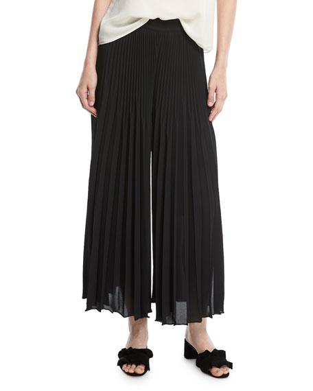 Eden Pleated Wide-Leg Pants