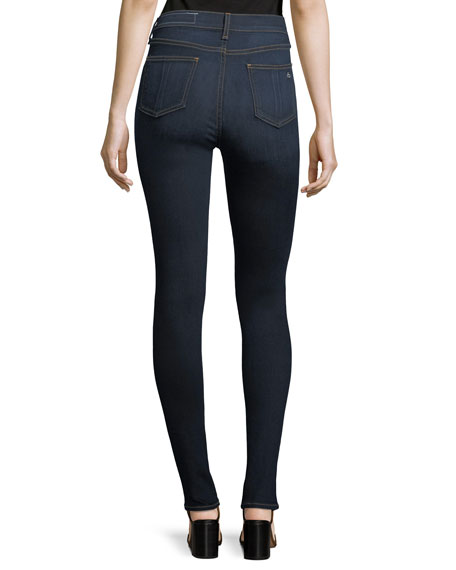 Image 2 of 3: High Rise Skinny Jeans, Dark Blue