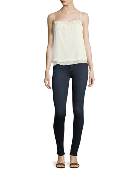 Image 3 of 3: High Rise Skinny Jeans, Dark Blue