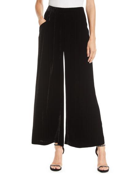 Eileen Fisher Velvet Wide-Leg Pants, Plus Size