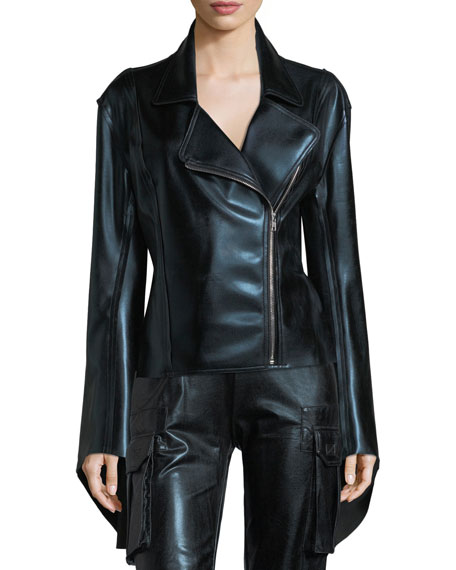 Gang Zip-Front Metallic Jacket