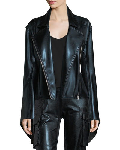 Gang Zip-Front Metallic Jacket