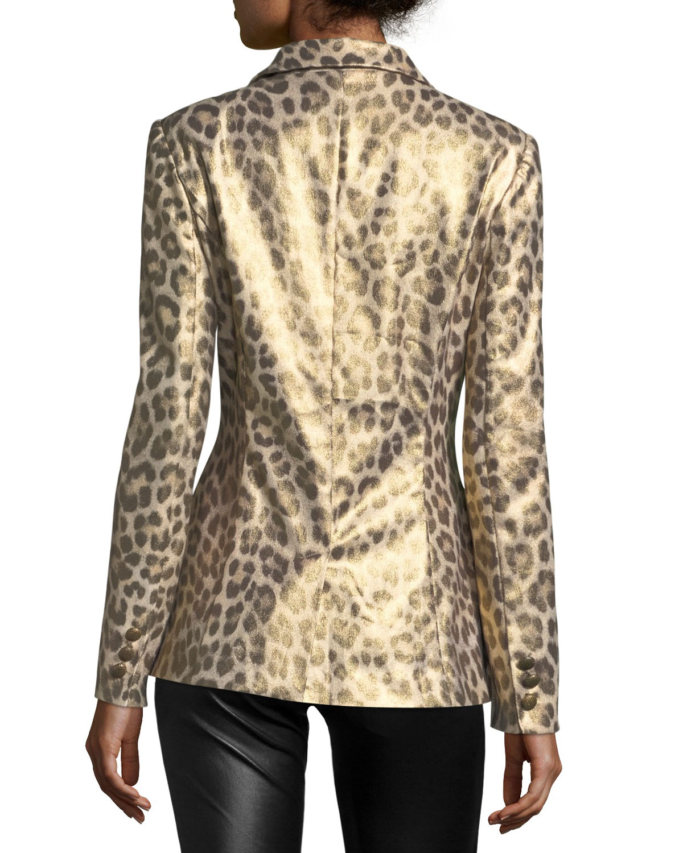 d73b017be788 Berek Leopard-Print Coated Blazer   Neiman Marcus