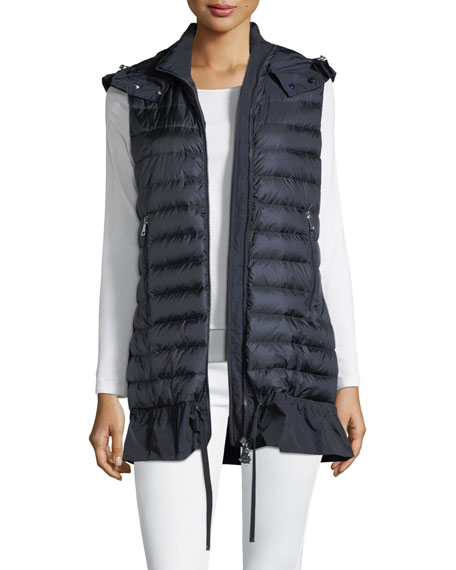 Moncler Quilted Drop-Waist Gilet