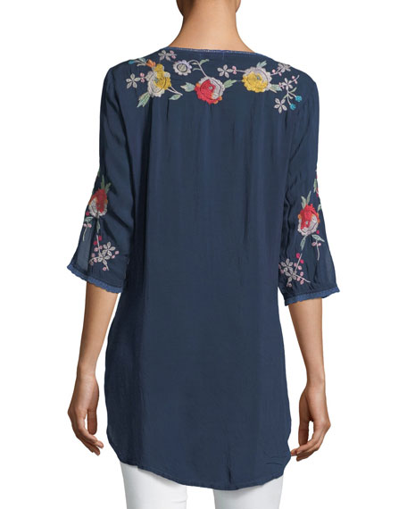 Playa Embroidered Georgette Tunic