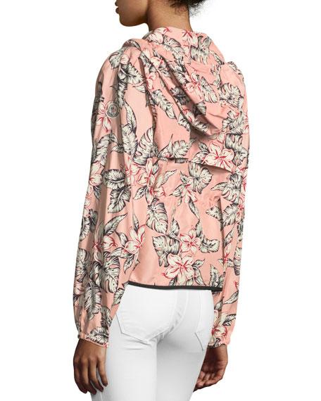 Jais Floral-Print Belted Jacket