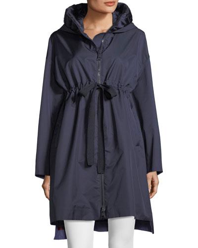Aigue Self-Tie Trench Coat w/ Hood