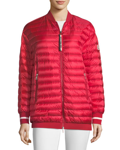 Charoite Quilted Bomber Jacket