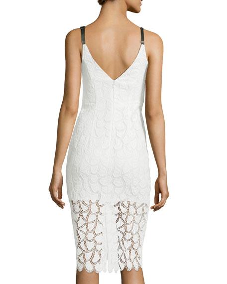 Jessie Lace V-Back Sleeveless Cocktail Dress
