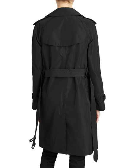 Amberford Packaway Rain Trench Coat, Black