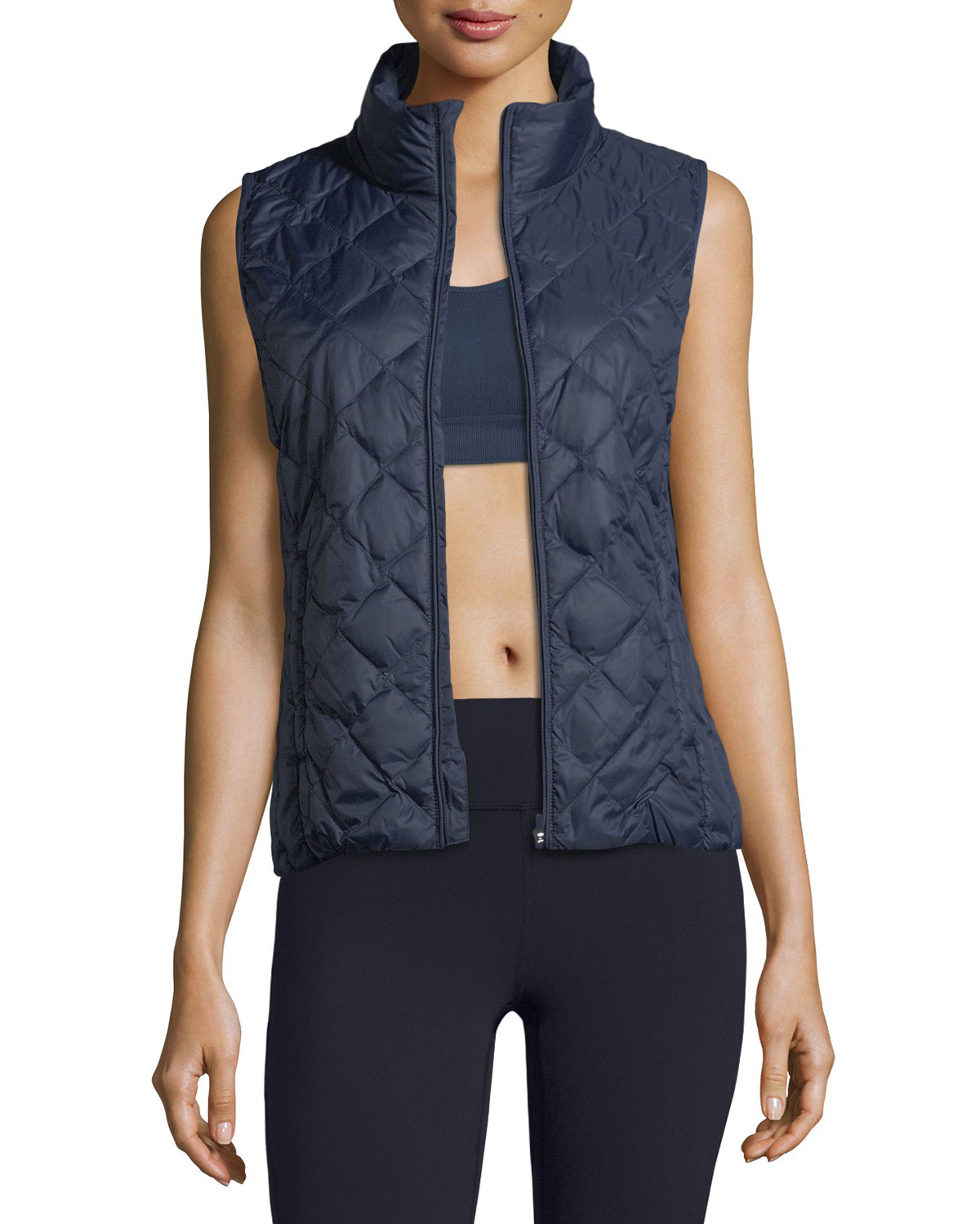 c7e2f6827e72 Tory Sport Zip-Front Packable Down Vest
