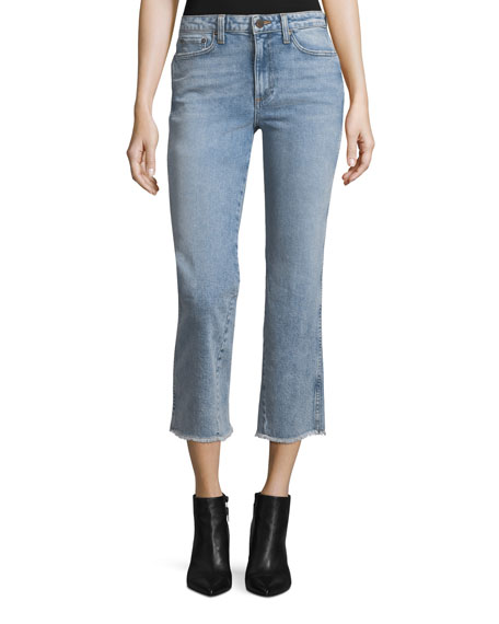 AO.LA by Alice+Olivia Perfect Cropped Kick-Flare Jeans