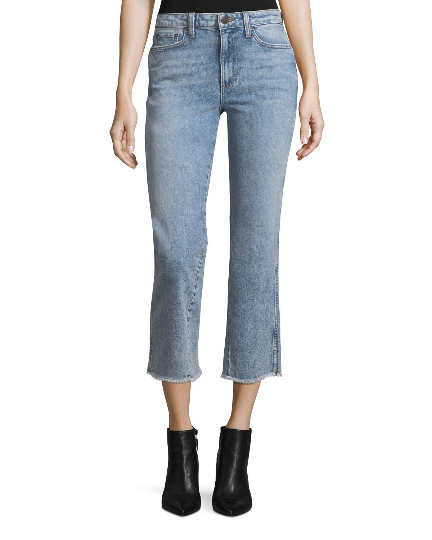 Cheap Sale Clearance The Cheapest Current/elliott Woman The Kick Cropped Mid-rise Flared Jeans Dark Denim Size 25 Current Elliott BshOaE