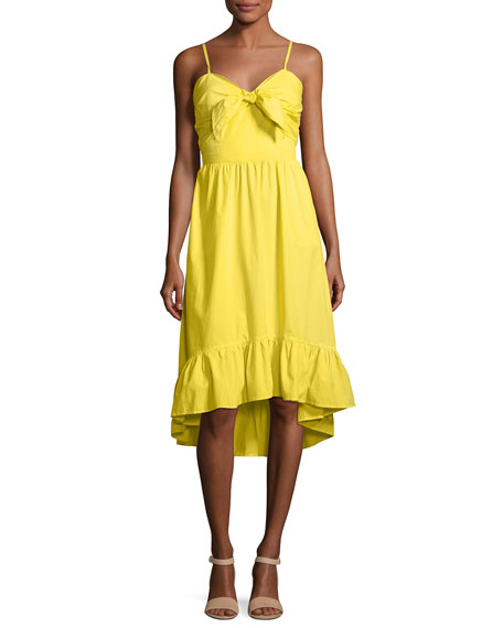 Joie Clorinda Ruffle-Hem High-Low Cotton Sun Dress