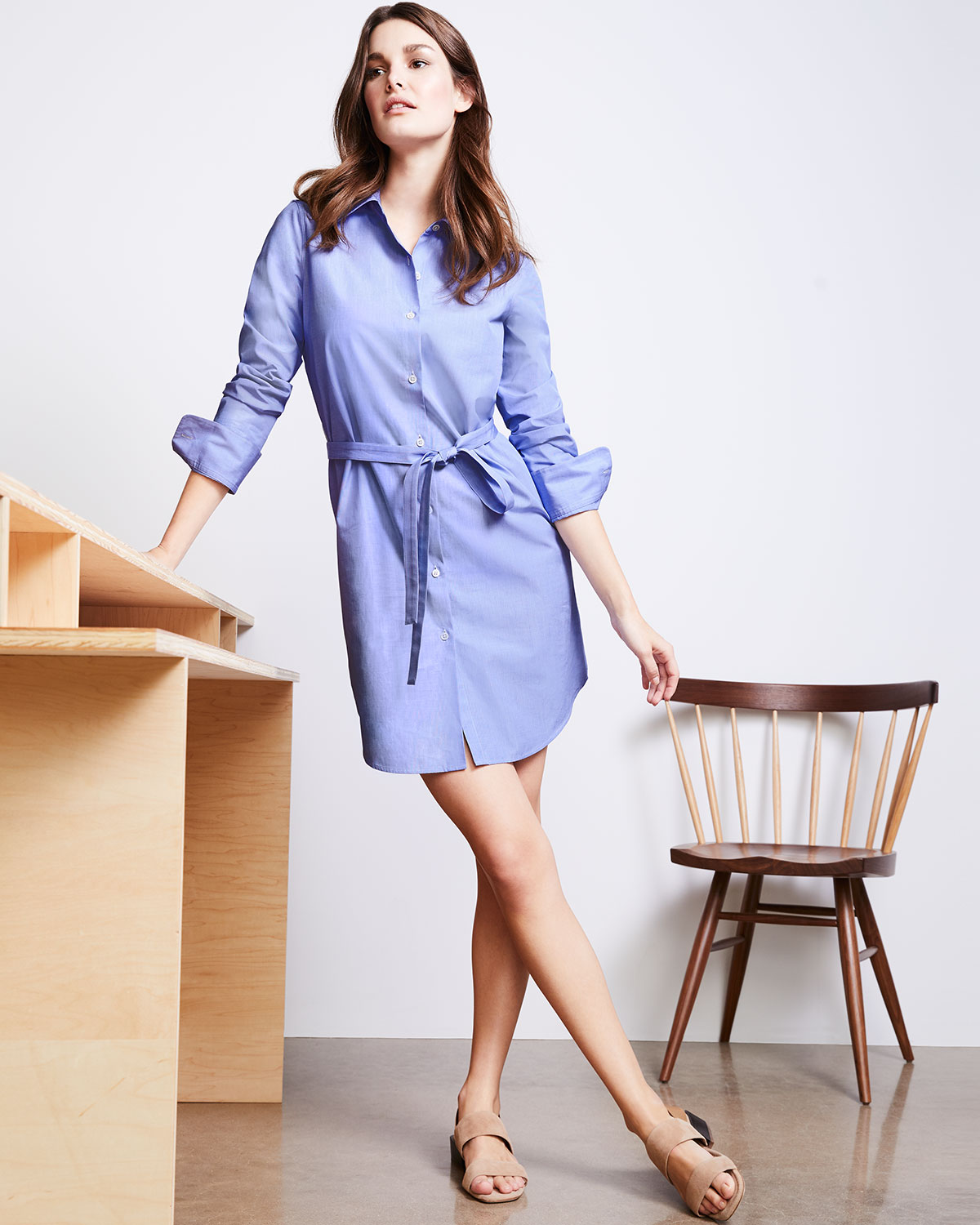 3f81f37b3f Theory Clean Button-Down Crowley Cotton Shirtdress | Neiman Marcus