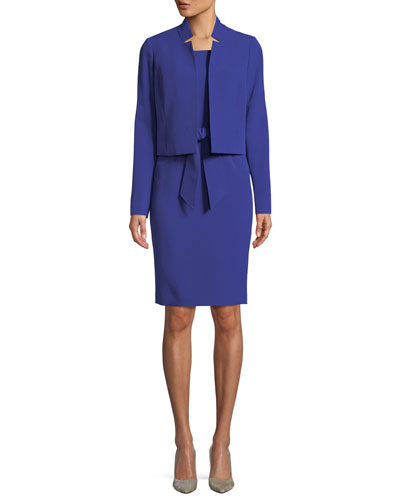 Belted Sheath Dress W/Matching Jacket