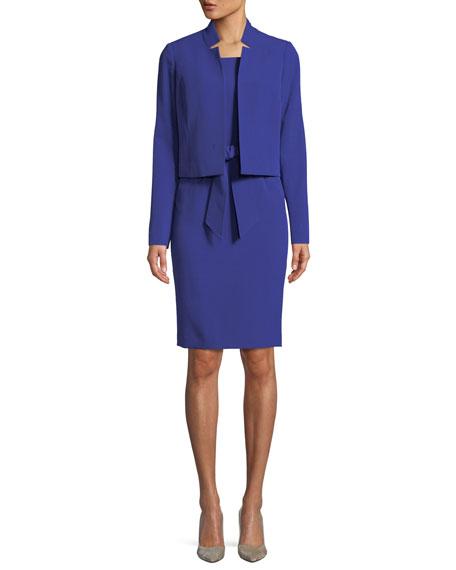 Belted Sheath Dress W/Matching Jacket