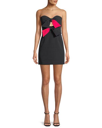 Mckenzie Bow-Embellished Mini Dress
