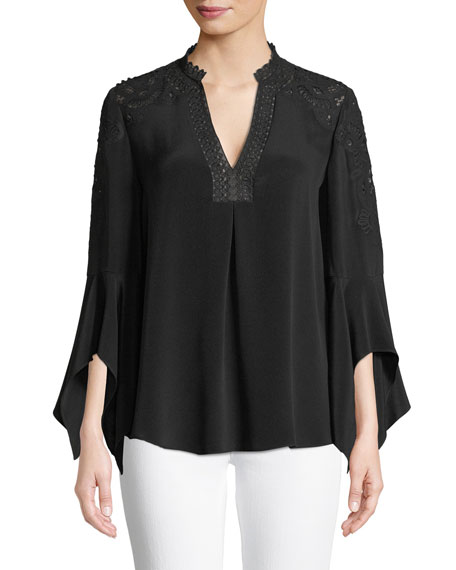 Jessa V-Neck Silk Blouse