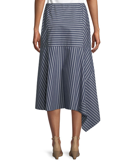 Tori Imperial Stripes Skirt