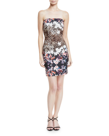 Kyla Animal-Print Mini Dress