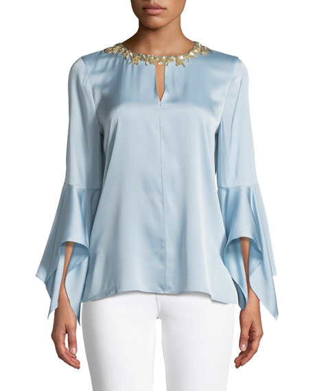 Kobi Halperin Elida Stretch-Silk Blouse