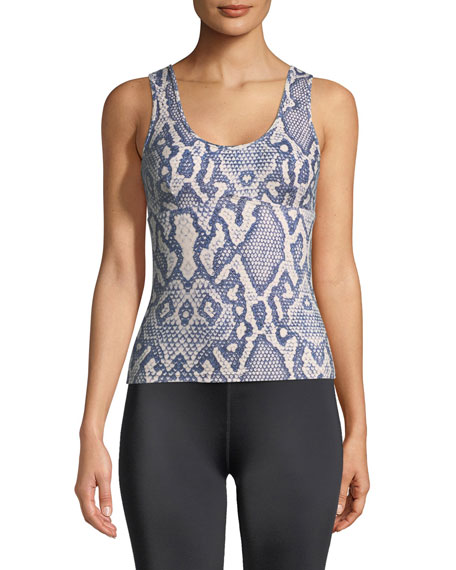 VARLEY Abbot Snake-Print Sport Tank With Built-In Bra