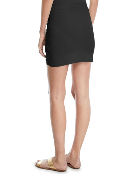 Chiara Boni La Petite Robe Ebby Fitted Ruched Mini Skirt Coverup
