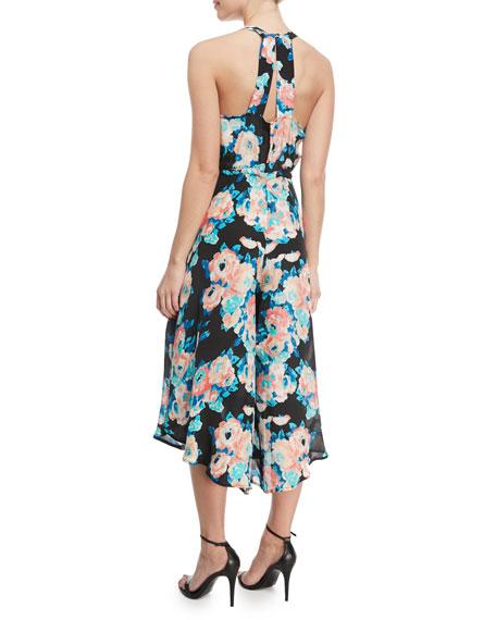 Melissa Floral-Print Crop Jumpsuit