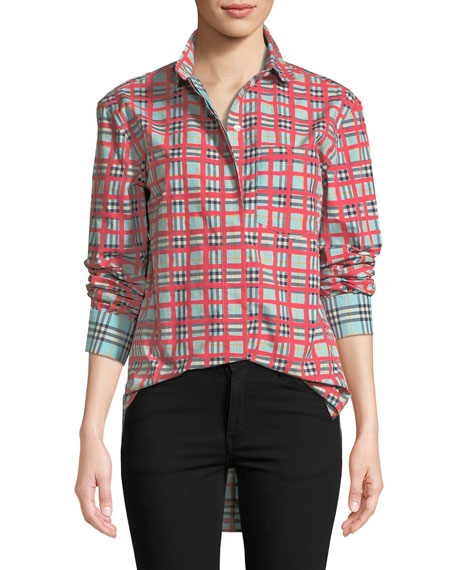 Burberry Saoirse Check Arm Shirt